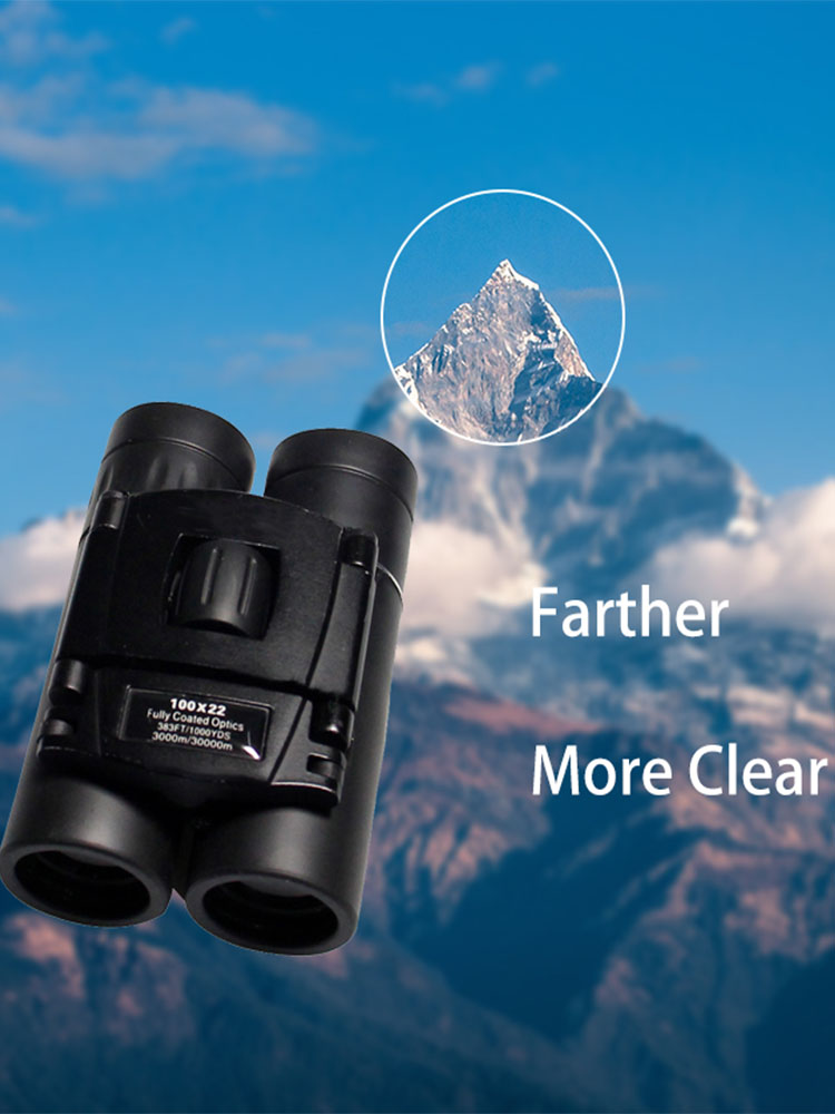 100x22 Mini Telescope HD Powerful Folding Binoculars Long Range  professioal Zoom Telescope Day Night Vision Outdoor Camping