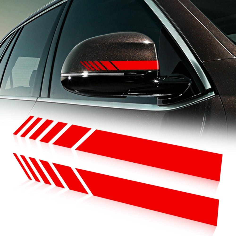 Автомобильное зеркало заднего вида, боковая наклейка, полоса, винил для Volkswagen VW Polo Tiguan Passat B6 B7 B8 T5 T6 Golf UP Vento Arteon Touareg