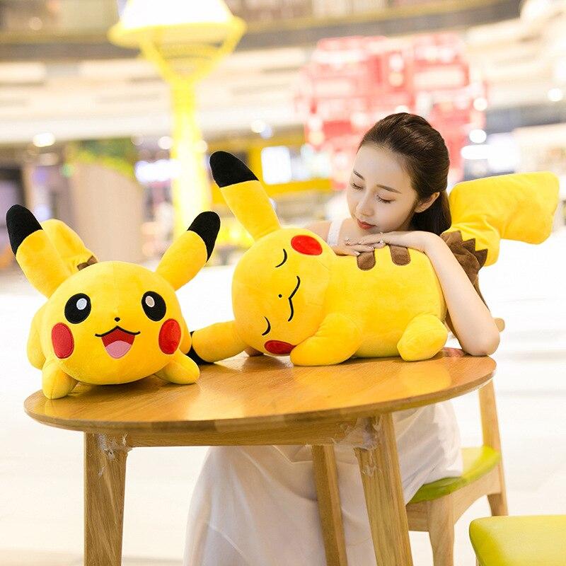25/40/50CM Running Smile Pikachu Dolls High Quality Cute Plush Toys Children Soft PP Cotton Birthday Christmas Gift For Kids