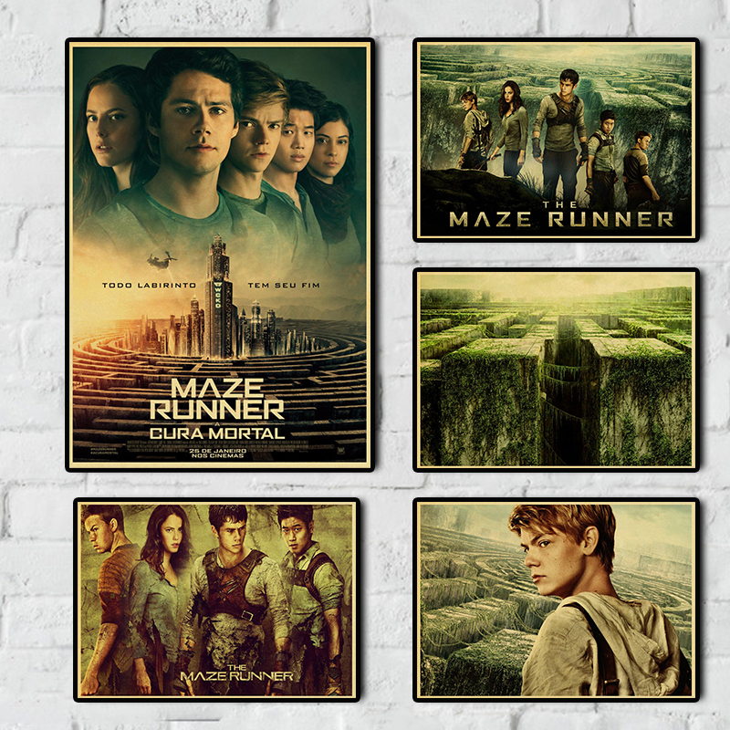 The Maze Runner Movie Vintage Poster Retro Posters Kraft Paper Printed Room Wall Decor Good Quality Posters
