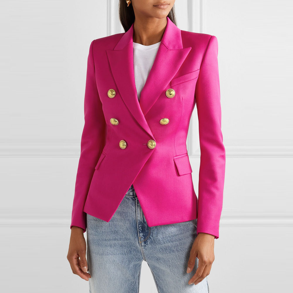 Women New Houndstooth Button Fashion Suit Casual Suit Jacket Female Casual Outwear 2020 Women's Spring Autumn Office Lady Short