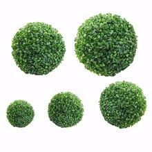 Зеленое искусственное пластиковое растение шар украшение дома на открытом воздухе Свадебная вечеринка дома на открытом воздухе декоративные растения травяной шар