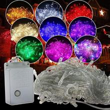 10m 100LED Starry Sky Fairy String Light Christmas Garland LED Curtain Icicle String Light Wedding Party Xmas Decorative Lamp beiaidi 3x0 65m heart shape curtain icicle led string light romantic xmas wedding party window curtain garland indoor lighting