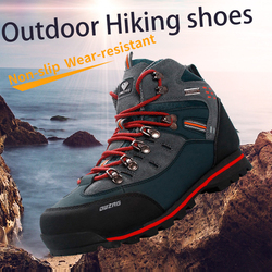 2019 Outdoor Big Size Waterproof Hiking Shoes For Men Suede Breathable Trekking Sneakers Mountain Boots Anti-Slippery Sneakers