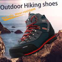 2019 extérieur grande taille imperméable chaussures de randonnée pour hommes daim respirant Trekking baskets bottes de montagne Anti-glissant baskets