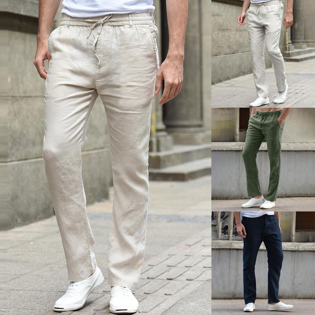 Casual Men's Cotton Slim Pants