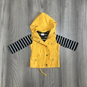 Image 2 - fall/winter baby girls cotton long sleeve top t shirt mustard olive vests and stripe tops hoodie raglans children clothes coat