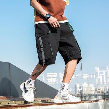2020 New Hip Hop Joggers Cargo Pants Men Harem Pants Multi-Pocket Ribbons Man Sweatpants Streetwear Casual Mens Pants S-6XL - XXXL, 963Black
