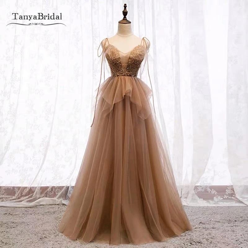 Prom Dress Brown