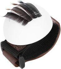Eyelash Holder For Eyelash Extension Round Pallet Holder Volume False Lashes Stand Lashbug with Wrist Strap Makeup Tool недорого