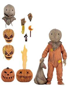 Image 4 - 18cm NECA Trick R Treat Sam Clothed With Bag Lollipop Halloween 2007 Action Figure Classic Film Movie Toys Christmas Doll Gift