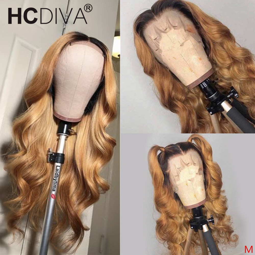 Lace Front Human Hair Wigs Body Wave Ombre Blonde Highlights Pre Plucked Brazilian Remy Lace Wig 13x4 Lace Front Wig For Women