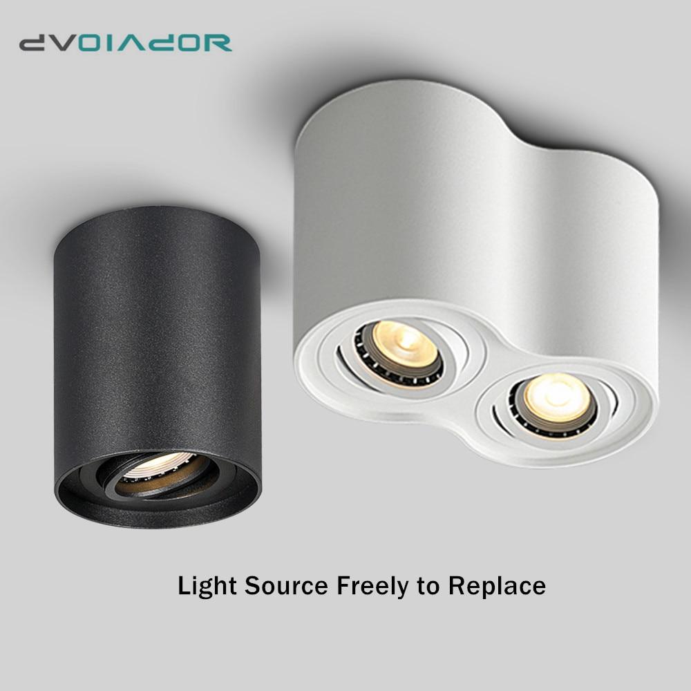 Led Surface Mounted Ceiling Downlight Adjustable 5W 10W GU10 LED Bulb Spot light for indoor Foyer,Living Room light fixtures