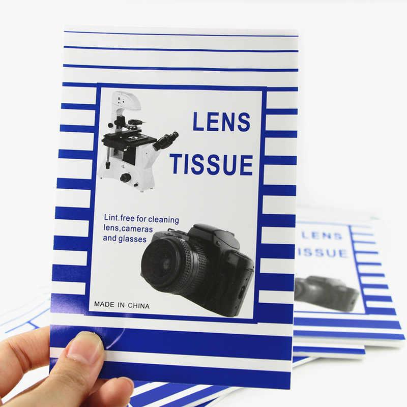 50 yaprak kamera Lens temizleme kağıdı yumuşak optik doku temiz kağıt silme kitapçık Canon Nikon kamera Lens filtre dokular