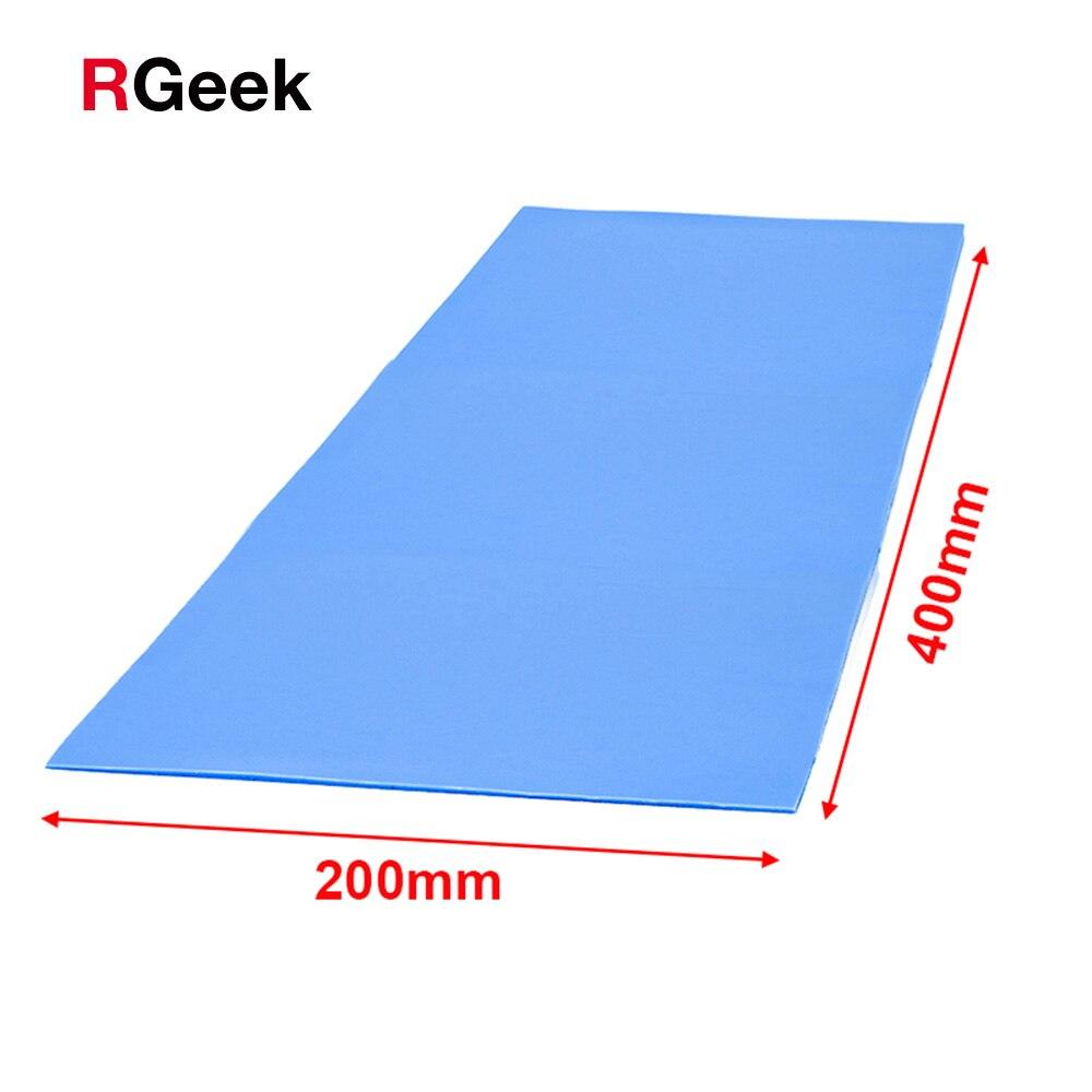 Высокое качество 6,0 Вт/мК 200*400 мм теплопроводность процессора Радиатор Охлаждение проводящая силиконовая прокладка термопрокладки