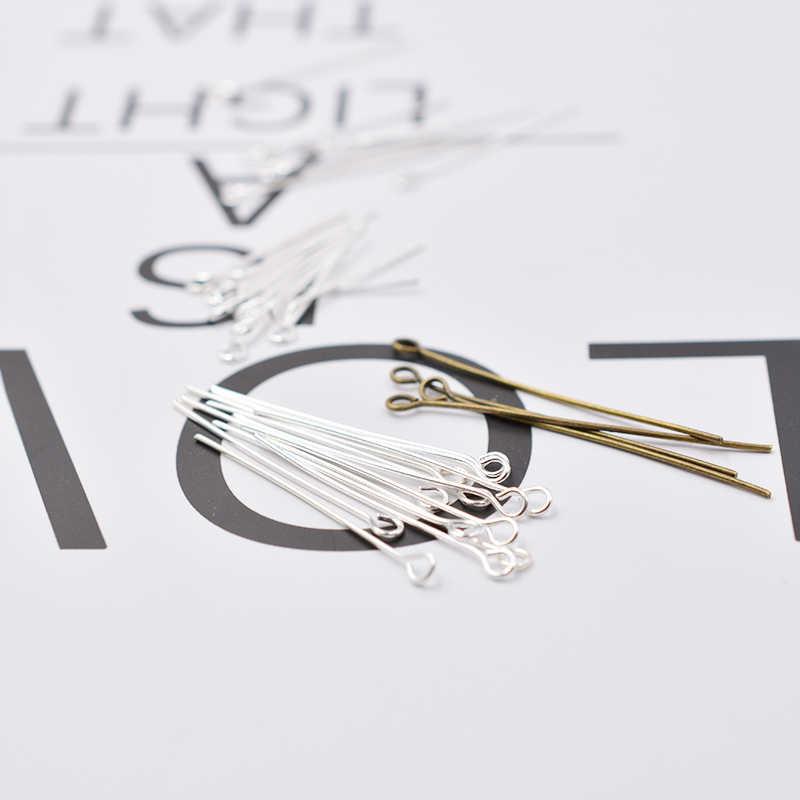 200 قطعة مختلط المعادن اللون 11 حجم 16-50 مللي متر العين دبوس ذو رأس الإبر الخرز لوازم لصنع المجوهرات اكسسوارات القرط النتائج Diy بها بنفسك