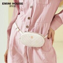 EMINI HOUSE Сумки на пояс, разделенная кожа, сумки через плечо для женщин, нагрудная сумка, роскошные сумки, женские сумки, дизайнерские женские с...