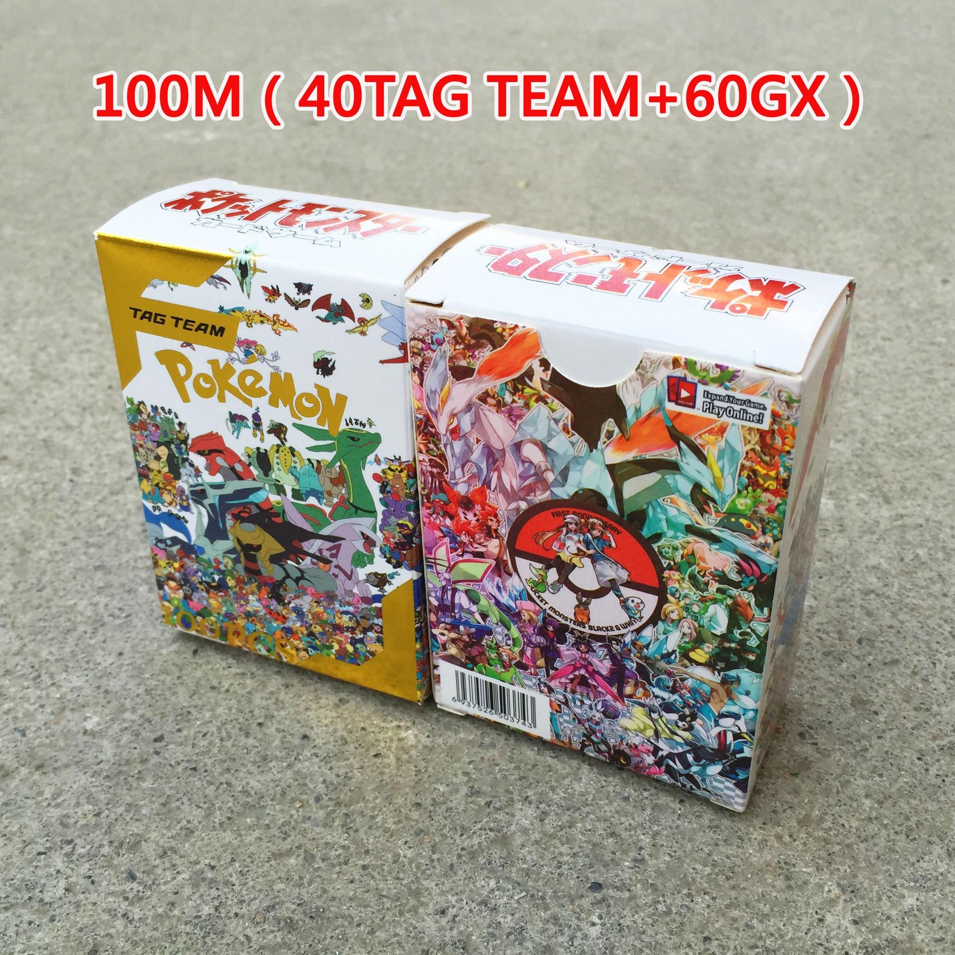 100 PcsGX TEAM Shining TAKARA TOMY Cards Game Battle Carte 100pcs Trading Cards Game Children Toy Pokemon Flash Cards Original