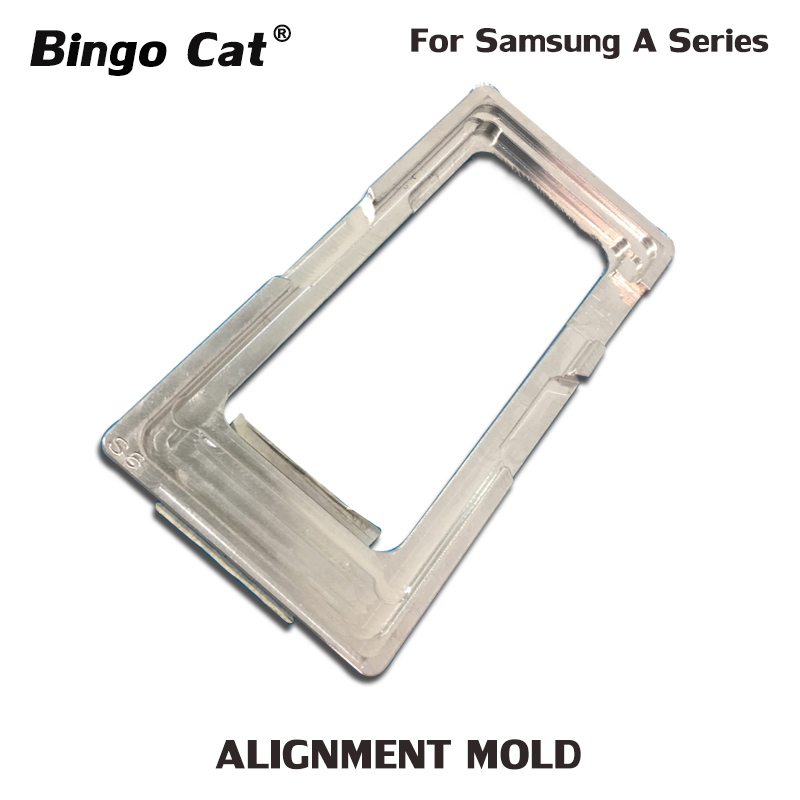 Aluminium Alignment Glue Mold Mould For <font><b>Samsung</b></font> A9 2018 A8 <font><b>A720</b></font> A730 A520 A510 A320 A310 <font><b>LCD</b></font> Screen OCA Position image