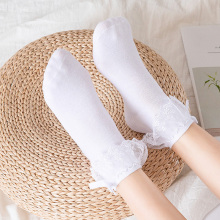 Short Socks Ankle Harajuku Lolita Ruffles Soft Vintage Princess Cotton Women Cute Kawaii