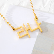 Personalized Collares Mujer Custom Korean Name Chokers Necklace Women Gold Silver Chain Colar Gargantilha Charm Jewelry BFF