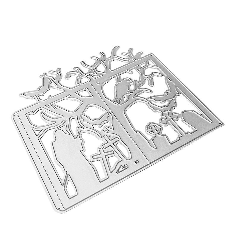 <font><b>Halloween</b></font> Tree Metal Cutting <font><b>Dies</b></font> Stencil DIY Scrapbooking Album <font><b>Stamp</b></font> Paper Card Embossing Crafts Decor image