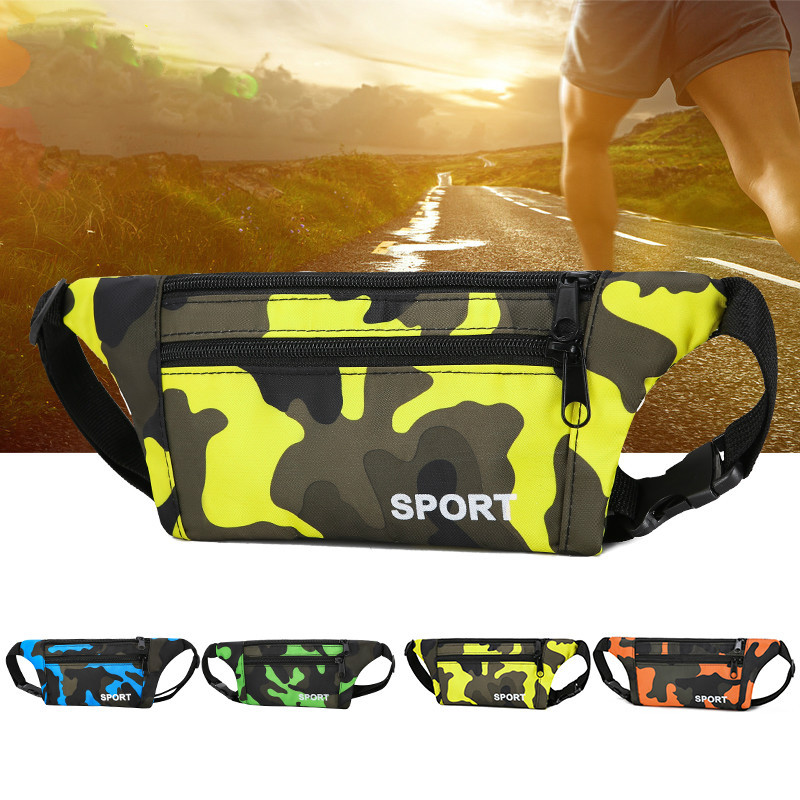 Waterproof Camouflage Wallet Men And Women Sports Running Multi-functional Phone Bag Cash Storage Money Riding Anti-Theft Chest