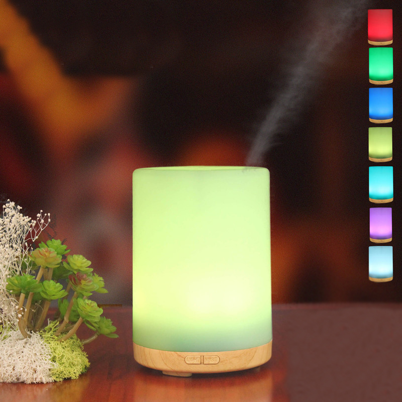 200ML Ultrasonic Aroma Diffuser Mini Humidifier Electric Essential Oil Aromatherapy Light Changing Color Mist Maker For Home
