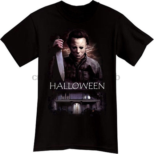 Best Tee Shirts  Men Michael Myers Halloween Horror Thriller Movie O-Neck Short-Sleeve Tee