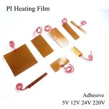 24V 50W PI Polyimide Flexible Adhesive Heater 24V 95x135mm Fast Heating Pad