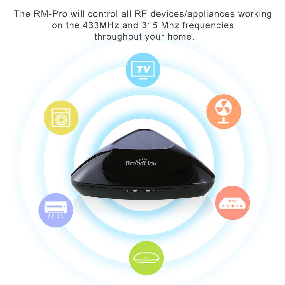 BroadLink RM Pro+WiFi Smart Home Hub, IR RF All in One Automation Learning Universal Remote Control Compatible for Apple Android