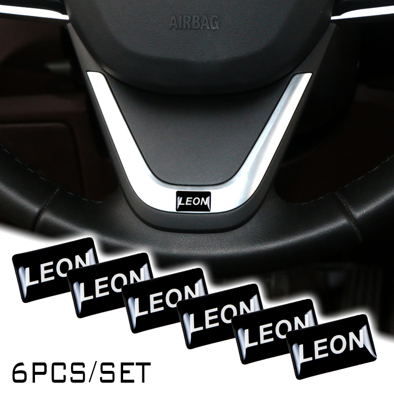 <font><b>Car</b></font> Steering <font><b>Wheel</b></font> Case For <font><b>Seat</b></font> <font><b>Leon</b></font> Ibiza cupra <font><b>Altea</b></font> Belt Racing Decorative Badge Emblems Logo image