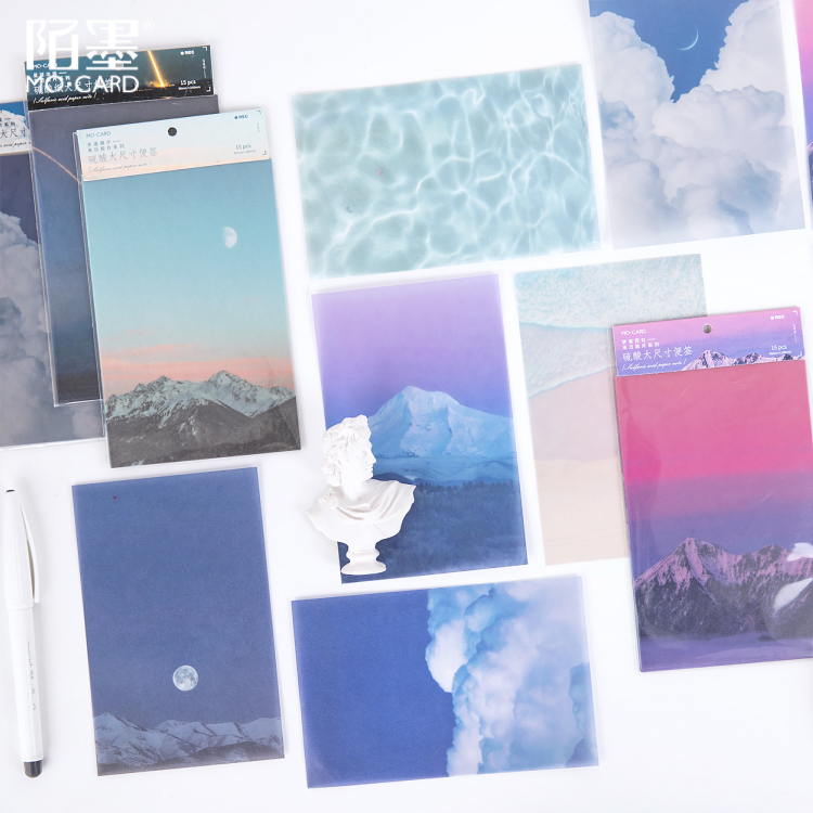 15 Sheets Doomsday Film Series Memo Pad Sticky Notes Memo Paper Bookmark Notebook Stationery School Office Supplies