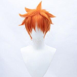 Image 4 - HSIU Аниме Haikyuu! Shoyo Хината косплей парик короткий костюм апельсина играть парики Хэллоуин костюмы волос