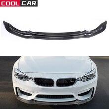 สำหรับ BMW F80 M3 F82 F83 M4 2014 2018ซีดาน Coupe รถกันชนหน้ากันชน Splitter คาร์บอนไฟเบอร์/FRP