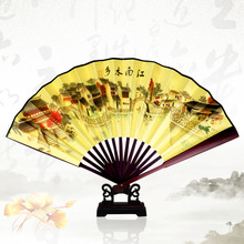 цены Free Shipping Vintage Chinese Spun Silk Flower Printing Hand Fan Folding Hollow Carved Hand Fan Event & Party Supplies 1pcs