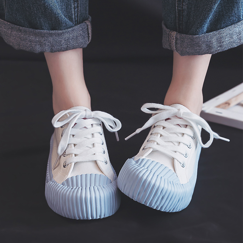 Canvas Women Shoes Autumn New 2019 Fashion Trend Sneakers Mixed Colors Flat Leisure Wild Retro Student Shallow Cloth Shoes Women