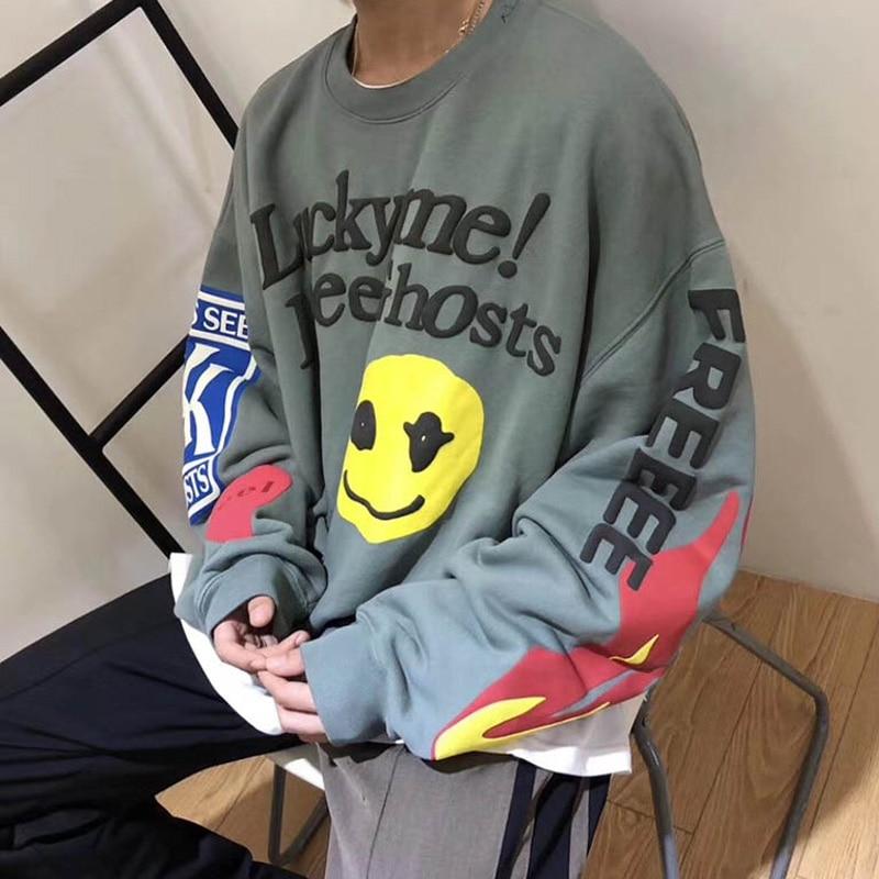 Kanye West KIDS SEE GHOSTS Sweatshirt 3D Dye Men Women 1:1 High Quality Kanye Pullover Sweatshirts 19FW
