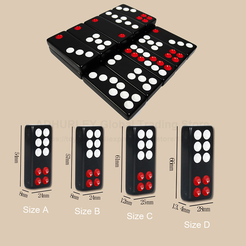 Dominoes Black Pai Gow 32pcs Domino With 2 Dices Board Games Dominos Game
