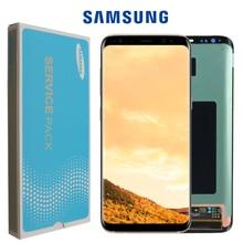 Pantalla original para SAMSUNG, reemplazo LCD táctil para Galaxy S8 S8plus, ensamblaje digitalizador, G950F G955, con marco