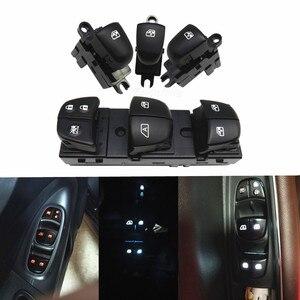 Image 1 - 1 conjunto/4 pces janela levantador interruptor do lado do motorista para nissan qashqai/altima/sylphy/tiida/x trail vermelho/branco/gelo luz azul