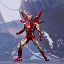 (Pre-sale) 17cm Avengers 4 Iron Man MK85 PVC Action Figure Toys iron man MK85 Joint movable figure Collection Model dolls Toys the avengers female version iron man ironlady iron maiden 1 9 pvc action figure model giocattolo g1457