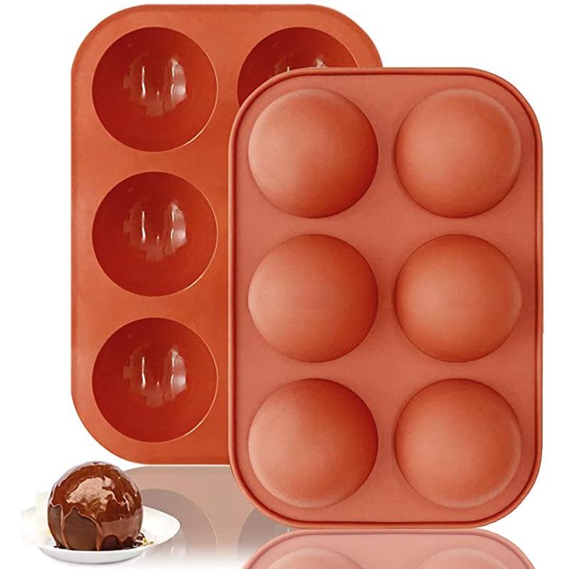 Полусферическая силиконовая форма для выпечки, 3D форма для выпечки шоколада, полушариковая Сфера, форма для кексов, форма для кексов, пирожн...