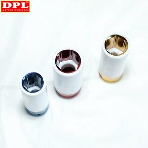 "Image 4 - 3pcs דק קיר סגסוגת גלגל אגוז שקע עמוק השפעת Socket סט 17mm 19mm 21mm 1/2 ""ד""ר"