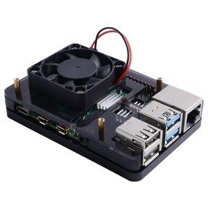 Image 2 - Raspberry Pi 4B / 3B / 3B+ Heat Sinks 52Pi ICE Tower Cooling Fan 40x40x10 V2.0 Black Super Heat Dissipation 7 Colours Light