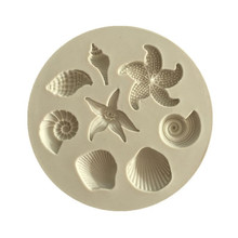 Cake Decoration Tools DIY Sea Creatures Conch Starfish Shell Fondant Candy Silicone Molds Creative Chocolate Mold