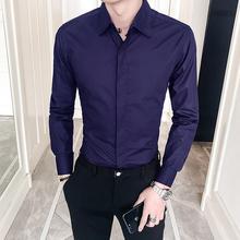 New 2019 Spring Autumn Cotton Dress Shirts High Quality Mens