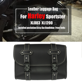 For Harley Sportster XL Model XL883 XL1200 Universal Motorcycle Side PU Leather Luggage Saddlebag Storage Tool Pouch Saddle bags 2 x pu leather motorrad sportster sacoches saddle bags for harley davidson sportster tool bag xl883 xl1200 brown black