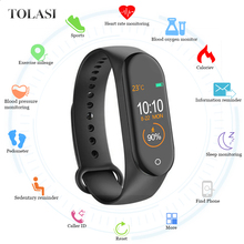 M4 Smart Wristband Heart Rate Blood Pressure Monitor Fitness Bracelet tracker Pedometer Band for IOS Android PK mi band 3  4 itormis smart band wristband fitness bracelet with fitness tracker heart rate pedometer blood pressure pk id115 miband mi band 2