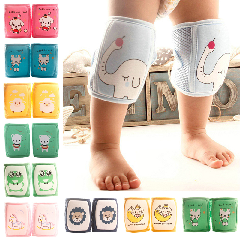 Newst 1 Pair Baby Knee Pads Kids Safety Crawling Elbow Cushion Pad Infant Toddlers Baby Leg Warmer Cartoon Animal Baby Kneecap